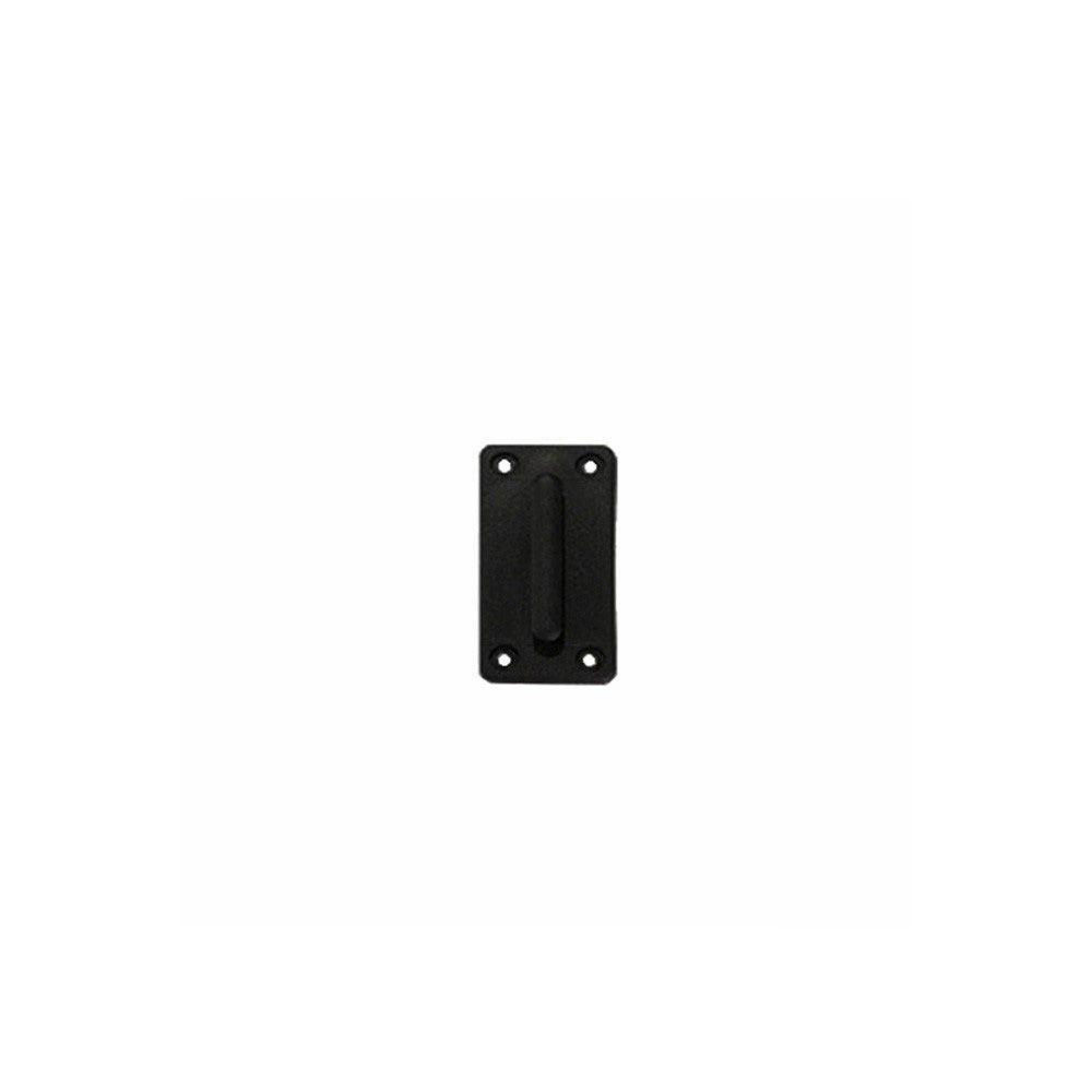 Cassete para fixação na parede com fita retrátil PRETA