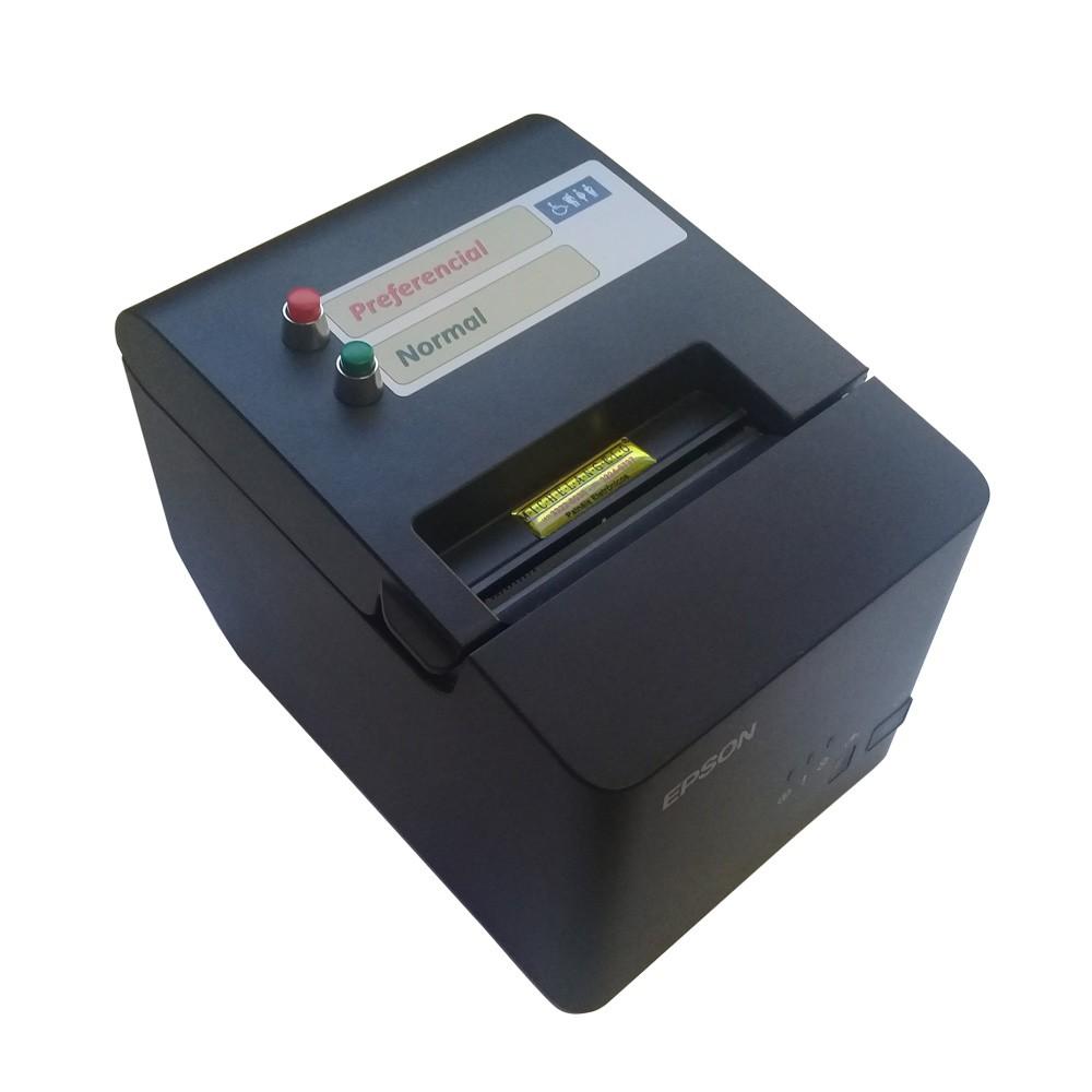 Impressora Térmica de Senhas Epson TM-T20x com até 4 Botões (Serviços)