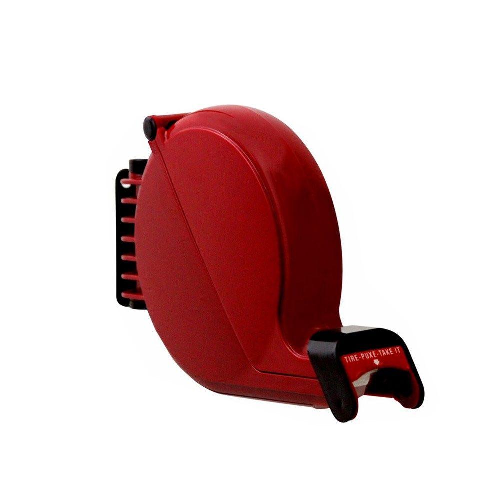 Dispensador de Senhas Bico de Pato + Suporte de Mesa + Placa Retire sua Senha - cor Vermelha