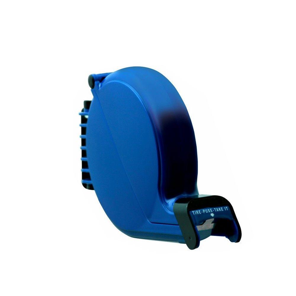 Dispensador de Senhas Bico de Pato + Suporte de Piso + Placa Retire sua Senha - Cor Azul