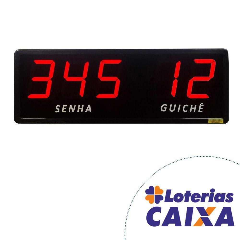 Kit Lotérica III - Painel de Senha e Guichê + Impressora de Senhas + Acessórios