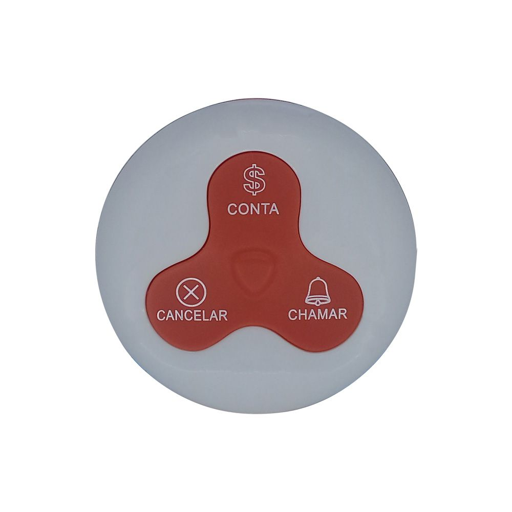 Kit Painel Chama Garçom GENIUS (3 Campos) + 20 Controles de Mesa