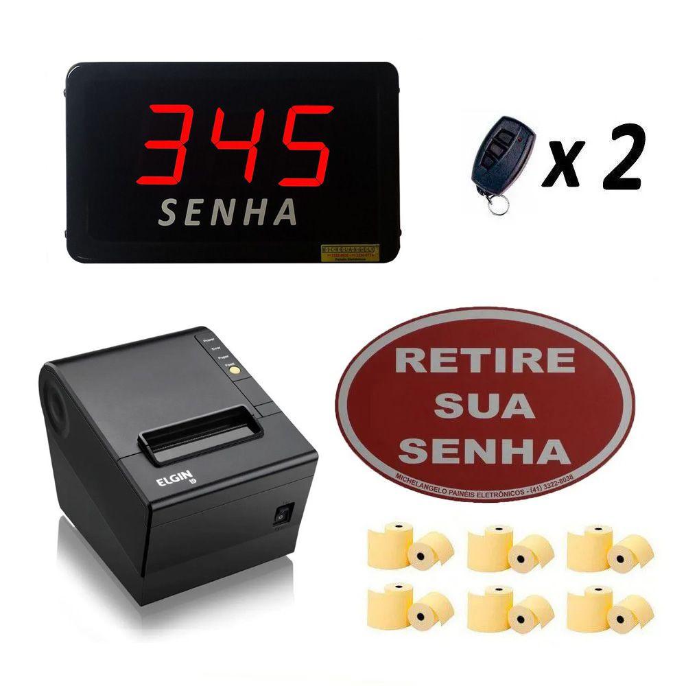 Kit Painel de Senha + Impressora Econômico