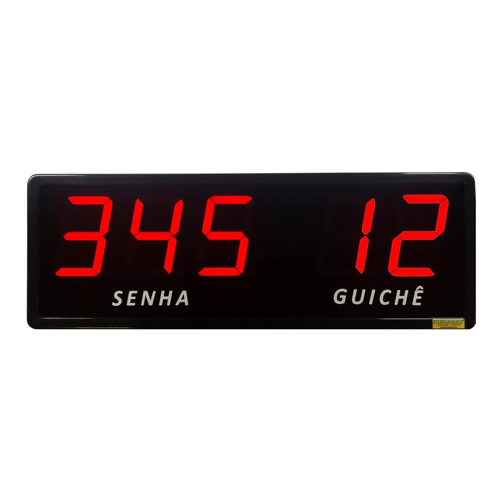 Kit Senha e Guichê I - Painel de Senha e Guichê + Dispensador Manual de Senhas + Acessórios