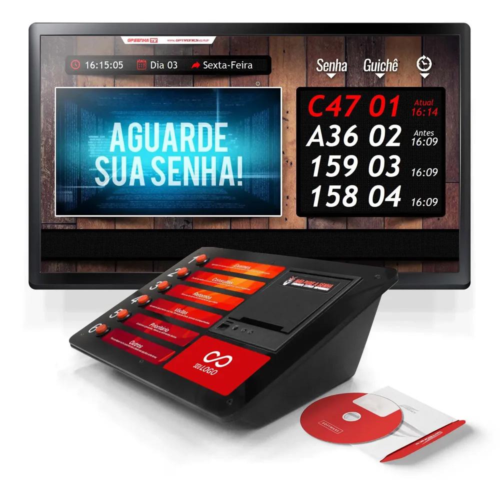 Kit Senha TV - Impressora de Senhas + Software de Gerenciamento de Senhas via TV