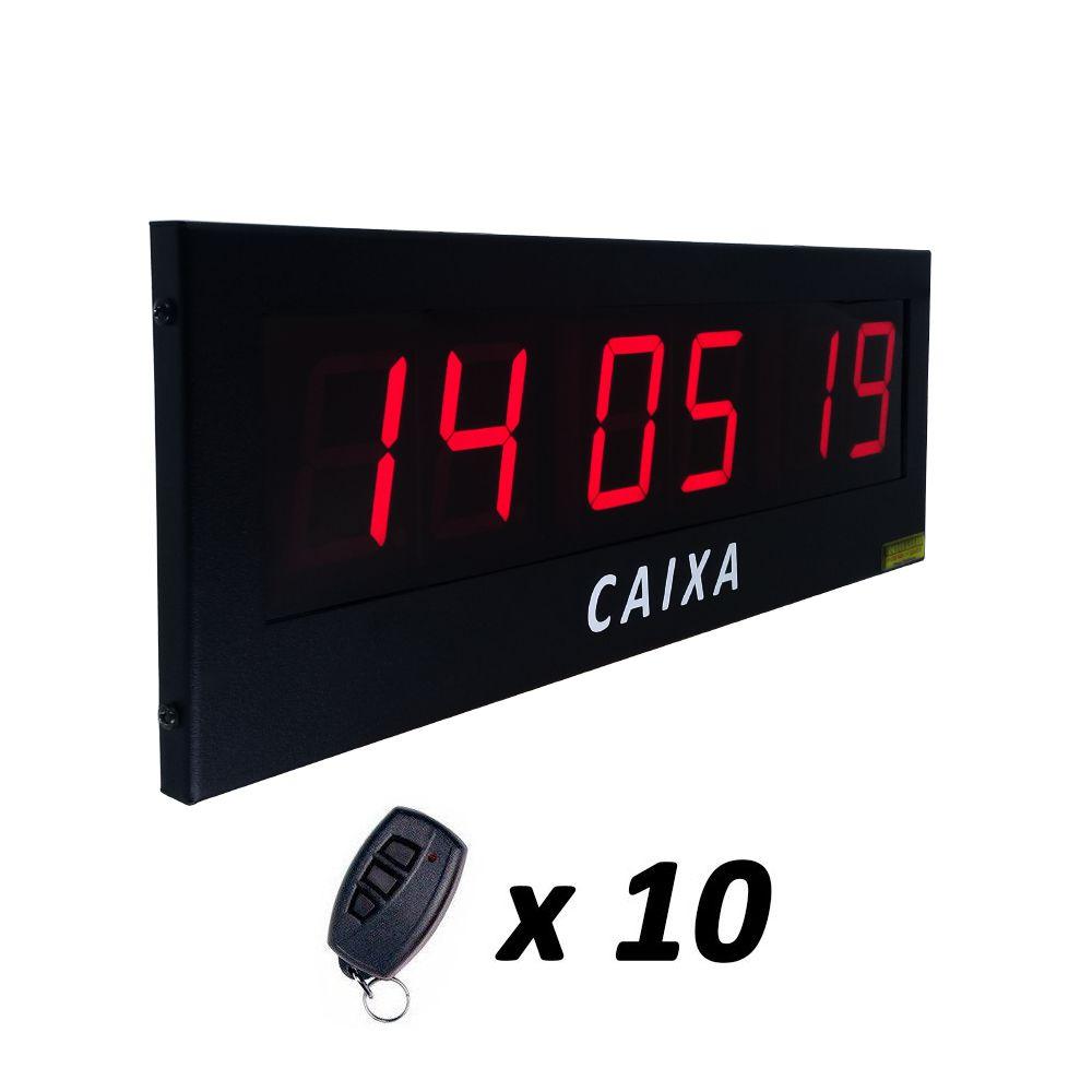 Painel Chama Fiscal de Supermercado com 3 Campos + 10 Controles de Caixa