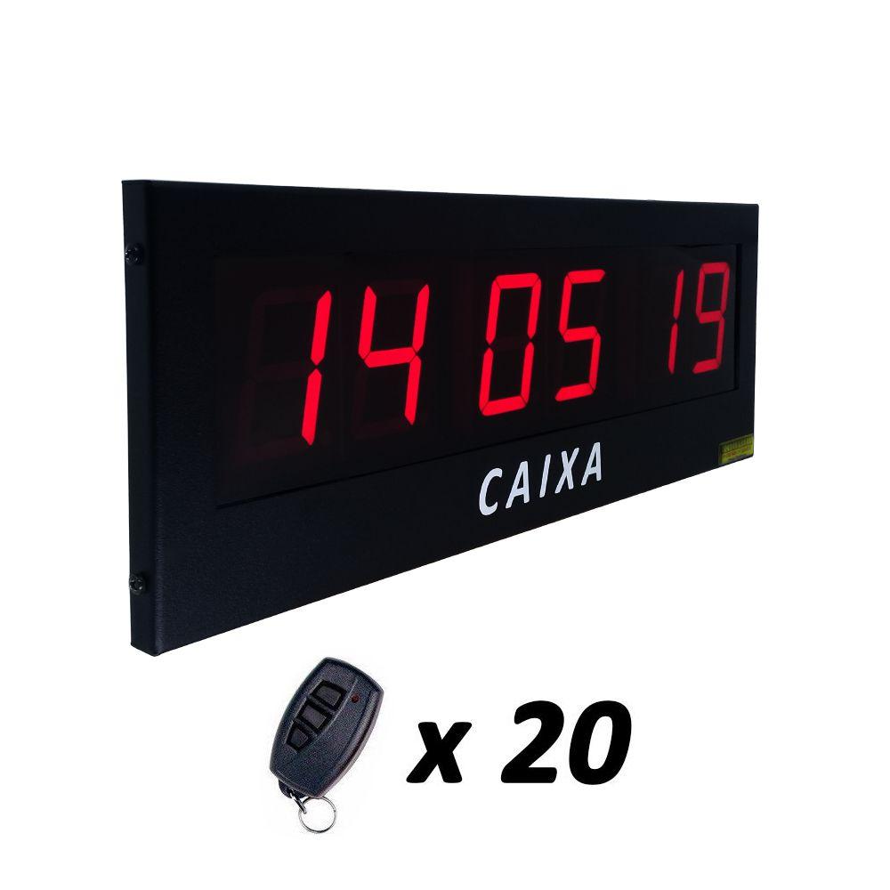Painel Chama Fiscal de Supermercado com 3 Campos + 20 Controles de Caixa