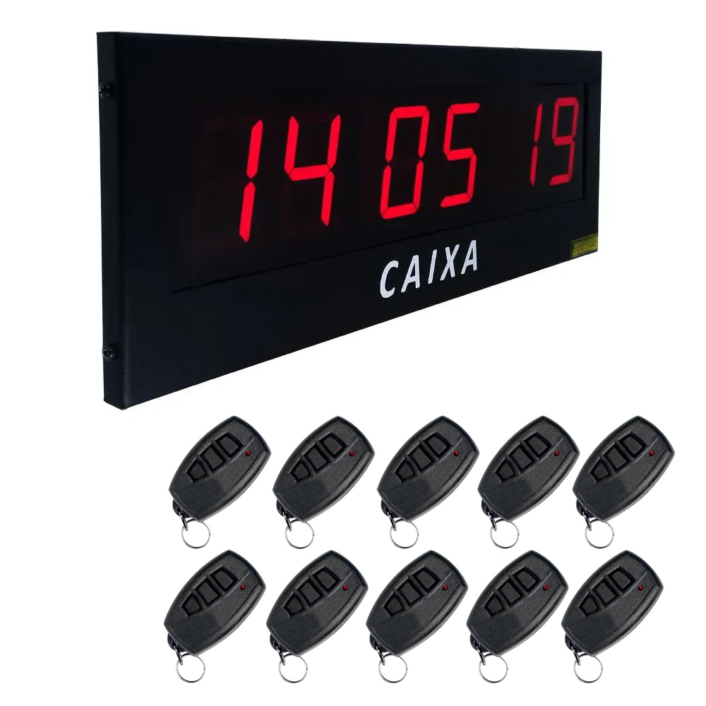 Painel Chama Fiscal Supermercado 3 Campos + 10 Controles