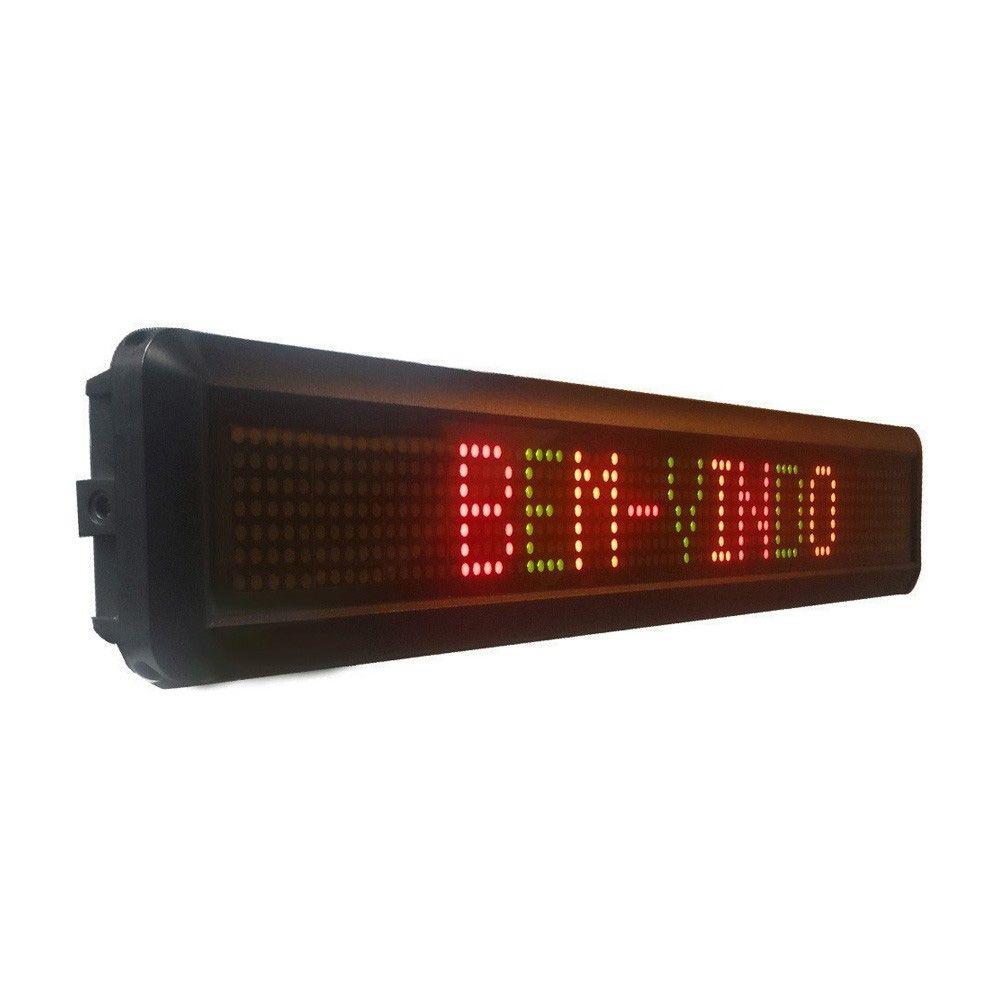 Painel de LED para mensagens COLORIDO com 68 cm de largura
