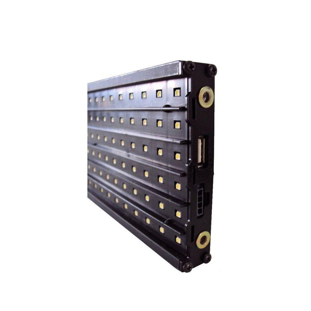 Painel de LED para mensagens GA100 6 linhas com 90 cm de largura - AMARELO