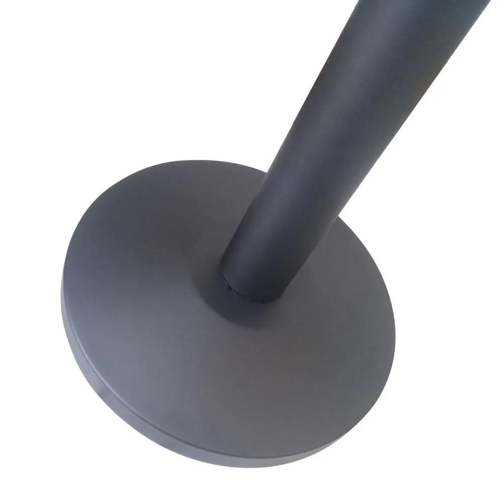 Pedestal Separador de Fila PRETO com Fita AZUL