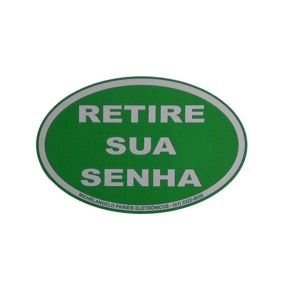Placa Retire sua Senha Verde