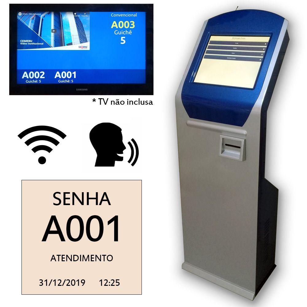 Totem Gerenciador de Senhas Touch Screen Premium