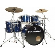 Bateria Acustica Nagano Concert Celluloid Full 2 surdos Bumbo 22