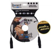 Cabo Konect XLR x XLR Serie PT 4,57 Metros P/ Microfone