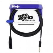 Cabo Microfone Santo Angelo Ninja Nm 10ft XLR | P10  3.05 Metros