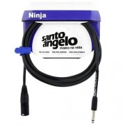 Cabo Microfone Santo Angelo Ninja Nm 20ft XLR | P10  6.10 Metros