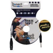 Cabo Konect XLR x P10 Serie XP 4,57 Metros P/ Microfone