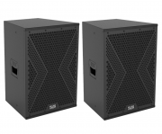 "Kit Caixa Som 12"" Pol Ativa + Passiva Mark Audio Profissional"