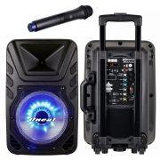 Caixa Multiuso Oneal 10 OMF405 110w Rms Bt USB FM C/ Bateria e Microfone Sem Fio