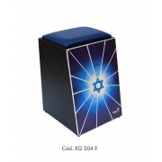 Cajon Eletrico Percussion Eg204e Estrela de Davi Acolchoado