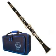 Clarinete Clarineta Eagle Cl04 Sib 17 Chaves C/ Case