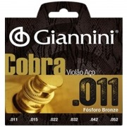 Encordoamento Giannini GEEFLKF11 Cobra Bronze 011 P/ Guitarra