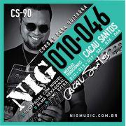Encordoamento Nig CS90 Signature Cacau Santos 010 P/ Guitarra + Extra