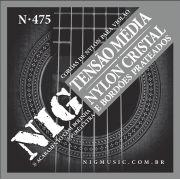 Encordoamento Nig N-475 Tensão Médio Nylon P/ Violão