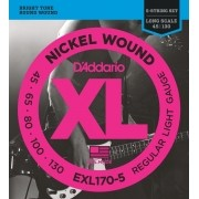 Encordoamento Daddario EXL170 045 P/ Contra Baixo 5 Cordas