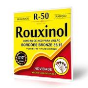 Encordoamento Rouxinol Violão Aço 010 R50 Com Bolinha 85/15