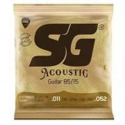 Encordoamento Para Violão SG Acoustic Bronze 80/15 011