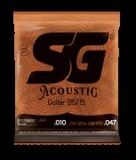 Encordoamento SG Violão Aço 010 Acoustic Bronze 85/15