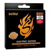Encordoamento Solez SLG-10 010 P/ Guitarra + EXTRA