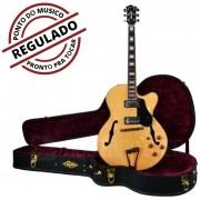 Guitarra Semi-acústica Tagima Jazz 1900 Natural C/ Case - Regulada