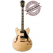 Guitarra Semi Acustica Washburn HB35N Natural Com Case