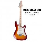 Guitarra Strato Strinberg STS-100 Cherry Burst Regulada