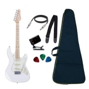 Guitarra Strato Strinberg STS-100 WH Branca Regulada + Bag e Acessórios