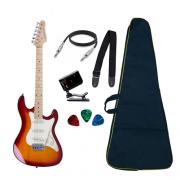 Guitarra Strinberg Sts100 Strato Cherry Burst Regulada + Bag e Acessórios