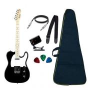 Guitarra Strinberg Tc120 Telecaster Black Regulada + Bag e Acessórios