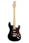 Guitarra Tagima T635 Classic New Preto Tortoise Strato + Blindagem + Bag Extra Luxo