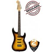 Guitarra Washburn S3XTS Flame Sunburst Tobacco