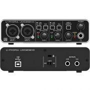 Interface De Áudio Behringer Umc202Hd Usb U-phoria C/ Pré Midas