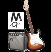 Kit Guitarra Fender 030 1812 032 Squier Affinity Stratocaster Short Scale + Cubo Fender Frontman 10G