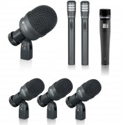 Kit Microfone Kadosh K7 C/ Case Para Bateria