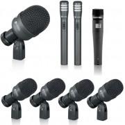 Kit Microfone Para Bateria Kadosh K8 Com Case - 8 Peças