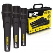 Kit Microfone SKP PRO33K Dinâmico C/ Maleta