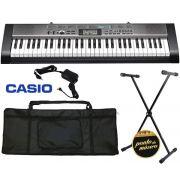Kit Teclado Casio Ctk1300 100 Ritmos + Suporte / Capa / Fonte