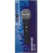 Microfone Dinâmico Devox DX48 Chaveado C/ Cabo