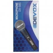 Microfone Dinâmico Devox DX58 Chaveado C/ Cabo